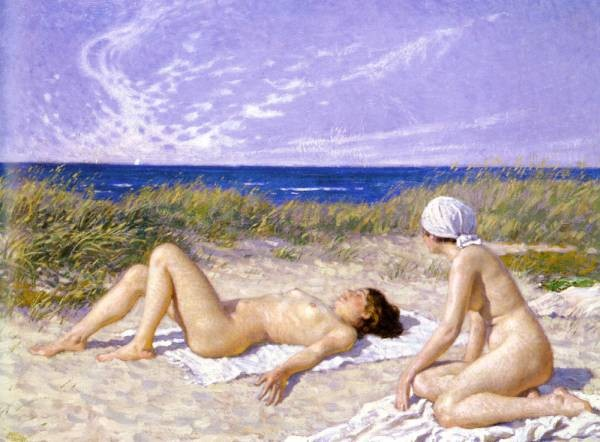 Sunbathing In The Dunes
